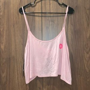 Forever 21 Blush Pink Twist Back Crop Tank Top NWT